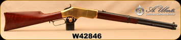 "Consign - Uberti - 22LR - Model 1866 Carbine - Lever Action - Walnut/Brass Receiver/Case Hardened Lever & Hammer/Blued, 19""Barrel - Only 1 box of shells fired - In original box"