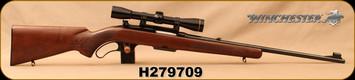 "Consign - Winchester - 243Win - Model 88 - Lever Action - Walnut Stock/Blued, 22""Barrel, c/w Peep Sight, Leupold FX-II 6x36mm scope, Duplex Reticle, 1"" QD Rings"