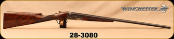 "Consign - Winchester - 28Ga/2.75""/26"" - Parker Reproduction - SxS  Shotgun - Ejectors - Walnut English Straight Grip Stock/Coin Finish Engraved Receiver/Blued Barrels, M,IC Chokes - In Leather hard case w/cloth cover"