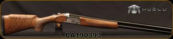 "Huglu - 12Ga/3""/26 - S12E - Ladies/Youth O/U - Turkish Walnut Monte Carlo Stock w/Adjustable Comb/Silver Receiver/Chrome-lined barrels, M Choke, SKU# 8681715390833, S/N CA190393"