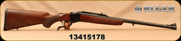"Consign - Ruger - 405Win - No.1-H Tropical - Single Shot Rifle - Walnut Stock/Blued, 24""Barrel - Only 20 rounds fired"