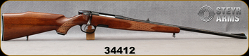 """Consign - Steyr - 243Win - Model L - Bolt Action Rifle - Diamond Checkered Walnut Stock/Blued, 23.5""""barrel,  ramp front sight"""