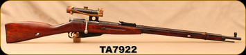 "Used - Mosin Nagant - 7.62x54R - 91/30 Sniper Rifle  - Wood Stock/Blued, 29""Barrel, scope"