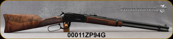 "Used - Winchester - 38-55Win - Model 1894 Deluxe Carbine - Grade IV/V Black Walnut Stock w/Satin Finish/Polished Gloss Blued Finish, 20"" Sporter Contour Barrel, c/w  Barrel Slugging kit, Crimp Die, 50pcs brass-Like New-In Brown Allen soft case"