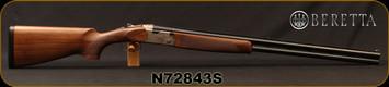 "Beretta - 12Ga/3""/30"" - Model 686 Silver Pigeon I - Sporting - O/U - Walnut Stock/Engraved receiver/Blued Barrels, 10x8Rib, Mfg# 3V5621LAAA331, S/N N72843S"