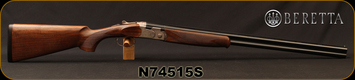 "Beretta - 20Ga/3""/28"" - Model 686 Silver Pigeon I - O/U - Walnut Stock/Nickel Finish Engraved Receiver/Blued Barrels, 6x6Rib, Optima BoreHP Choke, Mfg# 3W48P1L2AA311, S/N N74515S"