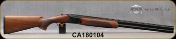 "Consign - Huglu - 12Ga/3""/28"" - 103D - O/U - Turkish Walnut/Case Hardened Receiver/Blued, 5pcs. Mobile Choke, Extractor, 10mm Vent Rib, SKU# 8681715394732 - Only 8 rounds fired - in original case w/chokes"