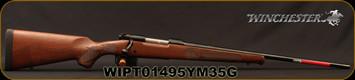 "Winchester - 6.5Creedmoor - Model 70 Featherweight - Bolt Action Rifle - Walnut Stock/Blued Finish, 22""Barrel, 4 Round Hinged Floorplate, Adjustable Trigger, Mfg# 535200289, S/N WIPT01495YM35G"