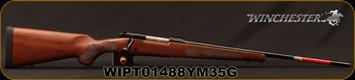 "Winchester - 6.5Creedmoor - Model 70 Featherweight - Bolt Action Rifle - Walnut Stock/Blued Finish, 22""Barrel, 4 Round Hinged Floorplate, Adjustable Trigger, Mfg# 535200289, S/N WIPT01488YM35G"
