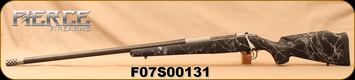 "Fierce - 28Nosler - Carbon Edge - LH - Bolt Action Rifle - Black w/Grey Web Carbon Fiber Stock/Titanium Cerakote armor finish, 26""Carbon Barrel, Mag Action, Muzzle Brake, 1:8.5""Twist, Mfg# 193160"