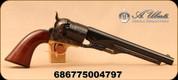 "Uberti - 44Cal - Model 1860 Army - Black Powder Revolver - One-Piece Walnut Grips/Case Hardened Frame/Engraved Cylinder/Blued, 8""barrel, Brass Trigger Guard, Mfg# 040"