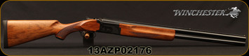 "Winchester - 12Ga/3""/26"" - Model 101 Deluxe Field - Over/Under Shotgun - Walnut Stock/Gloss Blued Finish, Vent Rib Barrel, 2 Rounds, Mfg# 513076391, S/N 13AZP02176"