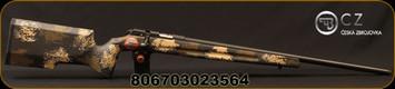 "CZ - 22LR - Model 457 Varmint Precision Trainer Camo - Bolt Action Rimfire Rifle - Manners Composite Camo Stock/Blued, 24.875""Threaded Heavy Barrel, 5 Round Detachable Magazine, Mfg# 02356"