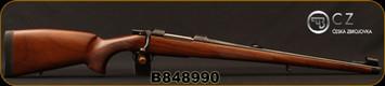 "CZ - 30-06Sprg - Model 550 Medium FS - Bavarian-style Mannlicher Turkish Walnut/Blued, 20.5"" Barrel, 5rd fixed magazine, 1:10"", steel muzzle cap, 3-position safety, Mfg# 5504-3803-FAJABBX, S/N B848990"