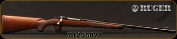 "Ruger - 375Ruger - M77 Hawkeye African - Bolt Action Rifle - American Walnut Stock/Satin Blue, 23""Barrel, w/Muzzel Brake 23"" Barrel, Mfg# 37186, S/N 71255871"