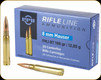PPU - 8mm Mauser (8x57mm JS Mauser - 323 Dia) - 198 Gr - Rifle Line - Full Metal Jacket Boat Tail - 20ct - PP8F