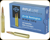 PPU - 25-06 Rem - 90 Gr - Rifle Line - Hollow Point - 20ct - PP2506H