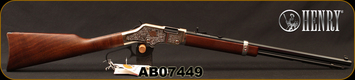 """Henry - 22S/L/LR - American Beauty - Lever Action Rifle - Walnut Stock/Engraved Nickel Receiver/Blued, 20""""Barrel, 16 Round Tubular Magazine, Mfg# H004AB, S/N AB07449"""
