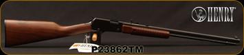 "Henry - 22 Magnum - Octagon - Pump Action Rimfire Rifle - American Walnut Stock/Blued Finish, 20.5""Octagonal Barrel, 12 Round capacity, Mfg# H003TM, STOCK PHOTO"