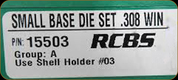 RCBS - Small Base Die Set - 308 Win - 15503