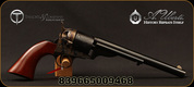 "Taylor's & Co - Uberti - 38Sp - Mason Revolver 1860 Army - Walnut Grips/Steel Backstrap & Triggerguard/Case-hardened finish/Blued, 8""Barrel, Mfg# 9030"