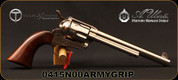 "Taylor's & Co - Uberti - 45LC - 1873 Cattleman - Walnut Army Grips/Nickel Finish, 7.5""Barrel, Mfg# 0415N00ARMYGRIP"