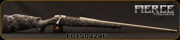 "Fierce - 300PRC - Edge - Long Action - Black w/Grey Web Synthetic Stock/Titanium Cerakote Finish, 24""Threaded barrel, 1:8""Twist, Titanium Muzzle Brake, bases"