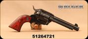 "Used - Ruger - 45Colt - New Vaquero - Single Action Revolver - Wood Grips/Blued, 5.5""Barrel - In original case"