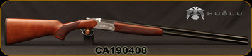"Huglu - 28Ga/2.75""/28"" - Hawk - O/U - Extractors - Turkish Walnut/Hand-Engraved Silver Receiver/Chrome-Lined Barrels, 8mm Vent Rib, SKU: 8682109401029, S/N CA190408"