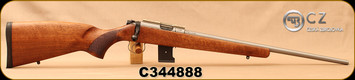 """Consign - CZ - 17HMR - Model 455 - Walnut Stock/Stainless, 20""""Barrel, 10rd detachable magazine, only 200 rounds fired"""