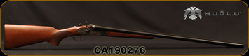 "Huglu - 12Ga/3""/30"" - 201HRZ - SxS - Turkish Walnut/Case Hardened/Chrome-Lined Barrels, Double Trigger, 5pc. Ventus Mobile Choke, SKU# 8681715392240, S/N CA190276"
