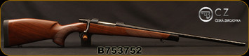 "CZ - 308Win - Model 550 Exclusive Ebony Edition - Bolt Action Rifle - Select Walnut/Blued, Spiral finish, 23.6""barrel, 1:12""Twist, Mfg# 5504-5365-EAAAABX, S/N B753752"