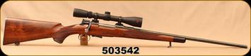 "Consign - Mauser - 6.5x55Swedish - Custom - Swedish Mauser Action - Walnut Stock/Blued, 24""Free-Floated Barrel, Redfield Revolution 4-12x40, Accu-Range reticle - c/w Camo Soft Case"