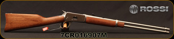 """Rossi - 44Mag - Model R92 Carbine - Lever Action Rifle - Walnut Straight-Grip Stock/Stainless, 20"""" Barrel, 10 Round Capacity, Mfg# 920442093, S/N 7CR016907M"""