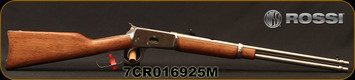 """Rossi - 44Mag - Model R92 Carbine - Lever Action Rifle - Walnut Straight-Grip Stock/Stainless, 20"""" Barrel, 10 Round Capacity, Mfg# 920442093, S/N 7CR016925M"""