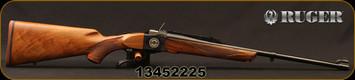 "Ruger - 308Win - No 1-A Light Sporter 50TH Anniversary Edition - High-Grade American Walnut/Custom 50th Anniversary No.1 Breech Block Engraving/Blued, 22""Barrel, Mfg# 21308, S/N 13452225"
