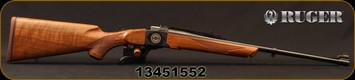 "Ruger - 308Win - No 1-A Light Sporter 50TH Anniversary Edition - High-Grade American Walnut/Custom 50th Anniversary No.1 Breech Block Engraving/Blued, 22""Barrel, Mfg# 21308, S/N 13451552"