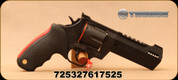 """Taurus - 44 Mag - Raging Hunter Revolver - Rubber Grip/Matte Black, 5.125"""" Ported Barrel - Adj Rear Sight, Picatinny Top Rail - 6rd - Mfg# 2440051RH"""