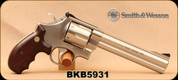 """Consign - Smith & Wesson - 44Mag - 629-3 Classic DX - Hogue Medallion Grips/Stainless Finish, 6.5""""Barrel, in original box w/all accessories, paperwork, spare grips"""