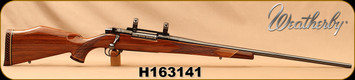 "Consign - Weatherby - 257WM - Mark V Deluxe - Gloss Finish Walnut/Blued, 26""Barrel, 1""Redfield Rings, Base"
