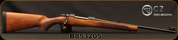 "CZ - 6.5x55Swedish - 557 Carbine - Bolt Action Rifle - Oil-Finished Turkish Walnut stock with cheekpiece/Blued, 20.5""Barrel, 4rd Hinged Floorplate, 1:8.6""Twist, Fiber Optic Front Sight, Mfg# 5574-6701-MFTADA5, S/N B853205"