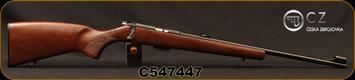 "CZ - 22WMR - Model 455 Lux - Turkish Walnut/Blued, 20.6""Barrel, 5rd Detachable Magazine, Mfg# 5074-8801-BAJMAAX, S/N C547447"