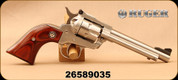 Consign - Ruger - 22LR/22WMR - Single Six - Single Action Revolver - Rosewood Grips/Stainless Finish, Mfg#  00625 - very low rounds - In Original Case