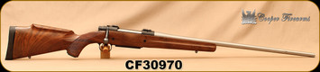"""Consign - Cooper - 340WbyMag - Model 52 Jackson Game - AAA Claro Walnut stock w/roll over cheek piece/Matte Stainless, 26""""Barrel, 3rd Detachable Magazine"""