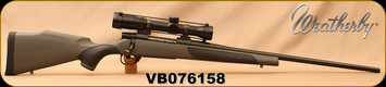 "Consign - Weatherby - 338WM - Vanguard S2 - Grey Synthetic w/soft touch panels/Blued, 24""Barrel, c/w Bushnell Elite 6500, 1.25-8x32mm, Multi-X Reticle - original scope box"
