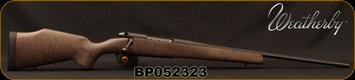 "Consign - Weatherby - 270Win - Mark V Ultra Lightweight - Range Certified - Bolt Action Rifle - Brown w/Black Web/Matte Black, 22"" Barrel, Mfg# URS270NR2O - In original box"