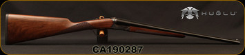"Huglu - 410Ga/3""/20"" - 200A Mini - SxS Single Trigger - Turkish Walnut Straight Grip Stock/Case Hardened/Chrome-Lined Barrels, Fixed chokes, SKU: 8681744308816, S/N CA190287"