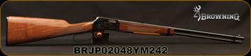 "Browning - 22S/L/LR - BL-22 Grade II - Lever Action Rimfire Rifle - Gloss Finish Walnut Stock/Blued Finish, 20"" Barrel, 15 Round Capacity, Mfg# 024101103, S/N BRJP02048YM242"