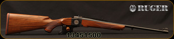 "Ruger - 308Win - No 1-A Light Sporter 50TH Anniversary Edition - High-Grade American Walnut/Custom 50th Anniversary No.1 Breech Block Engraving/Blued, 22""Barrel, Mfg# 21308, S/N 13451500"