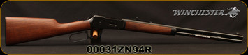 "Winchester - 25-35Win - Model 1894 Short Rifle - Lever Action - Straight grip Black Walnut Stock/Deeply-Blued, 20""Barrel, Full-length magazine, Marble Arms Gold Bead front sight, Mfg# 534174175, S/N 00031ZN94R"